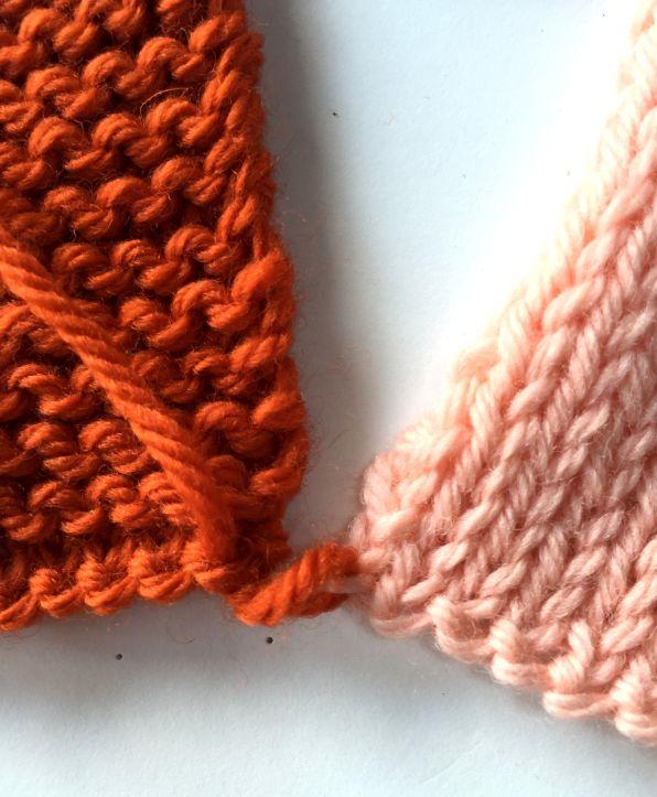 Knitting Joining Seams Garter Stitch : Deborah knits seaming garter stitch