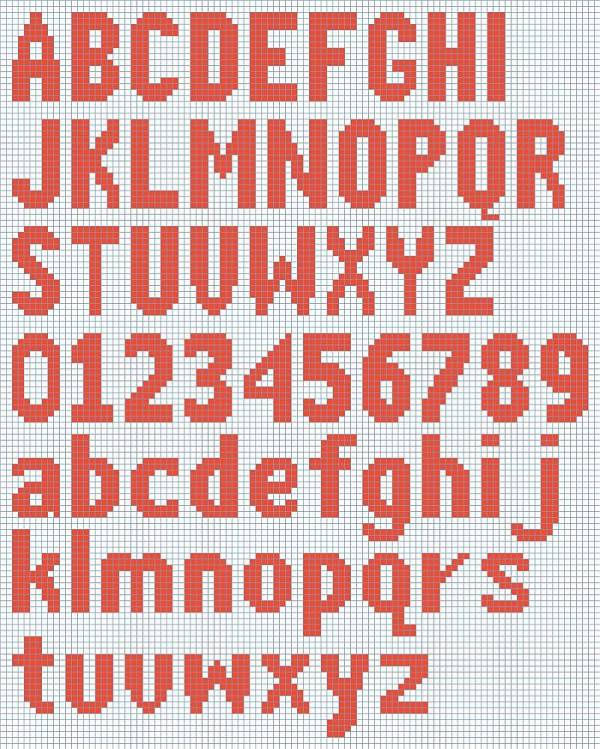 alphabet on graph paper for knitting - Kubre.euforic.co